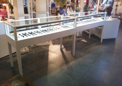 White Jewelry Display Case