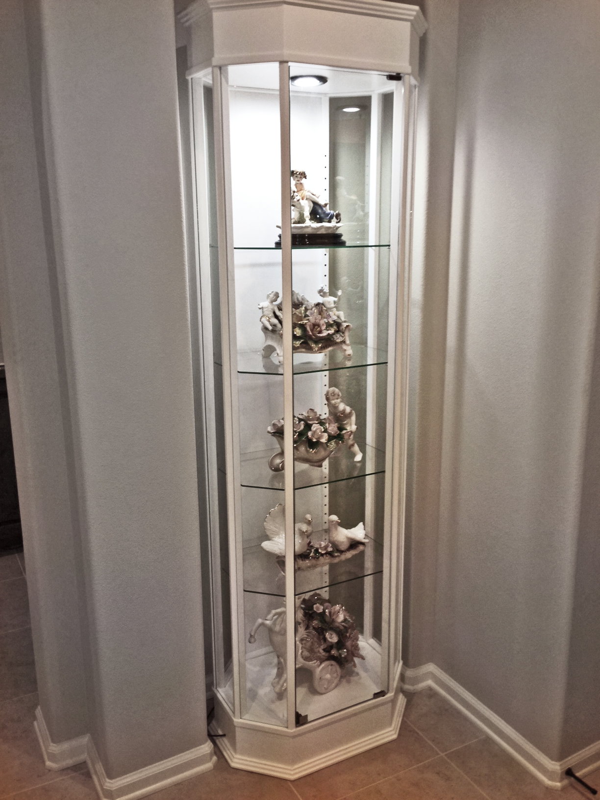 Octagon Tower Display Case Retail Store