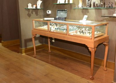 Custom Queen Anne Display Case