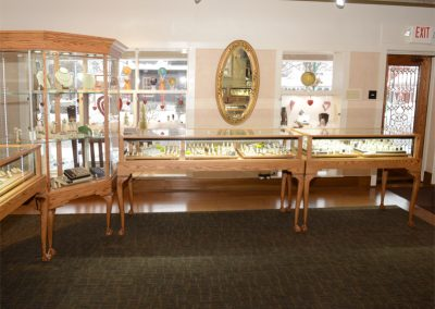 Custom Ball and Claw display cases for Midwest Estates