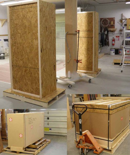 Different Sizes of Crated Display Cases