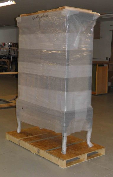 Packing Wrapped Display Case