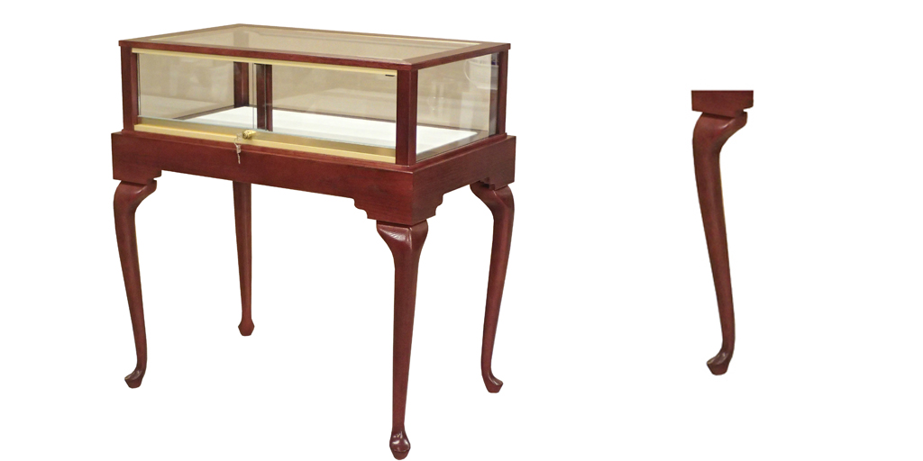 Queen Anne Leg Display Case