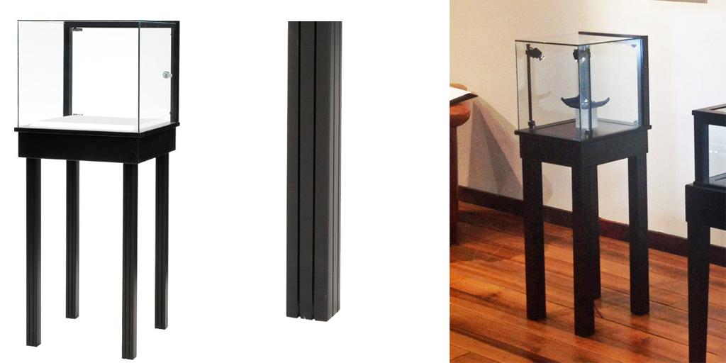 Straight Leg Pedestal Display Case