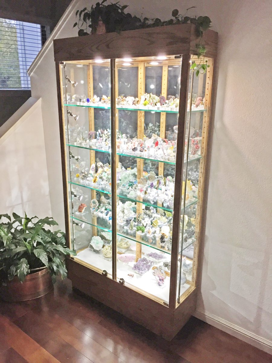 Wood Mineral Display Case