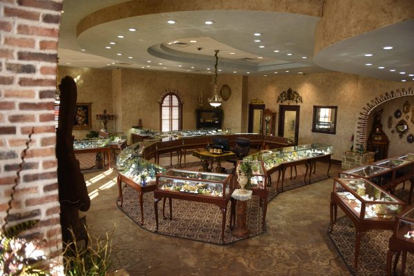 Wooden Jewelry vitrines