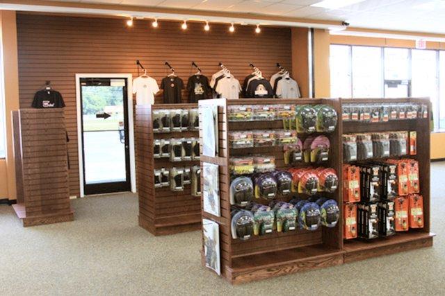 Gondola display cases for gun stores