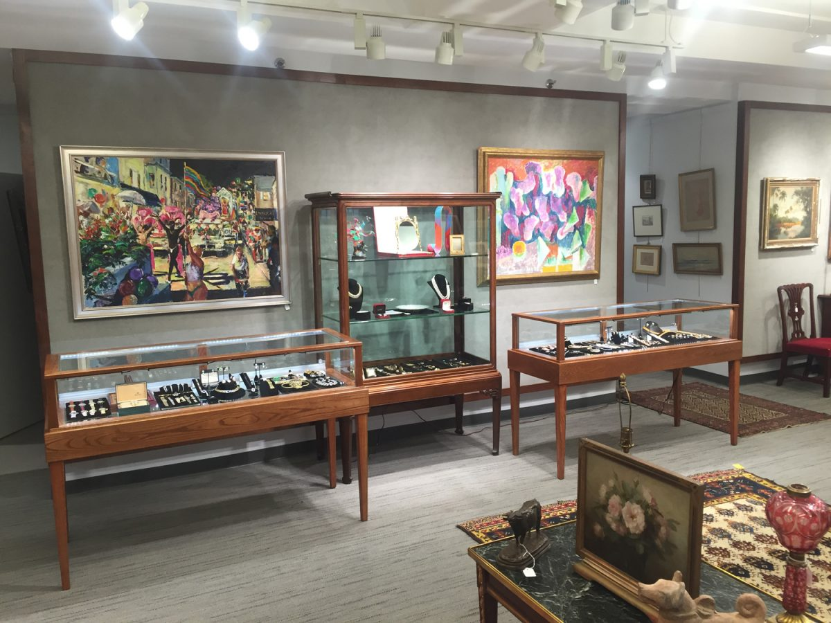 Jewelry Auction Display Cases