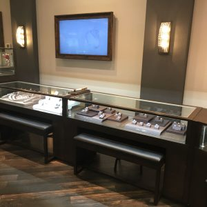 custom display case made for Diamond Center Jewelers