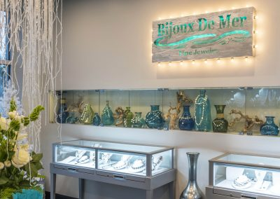 Bijoux De Mer sign and silver display cases Florida