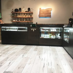 Cannabis Display Cases Retail Store