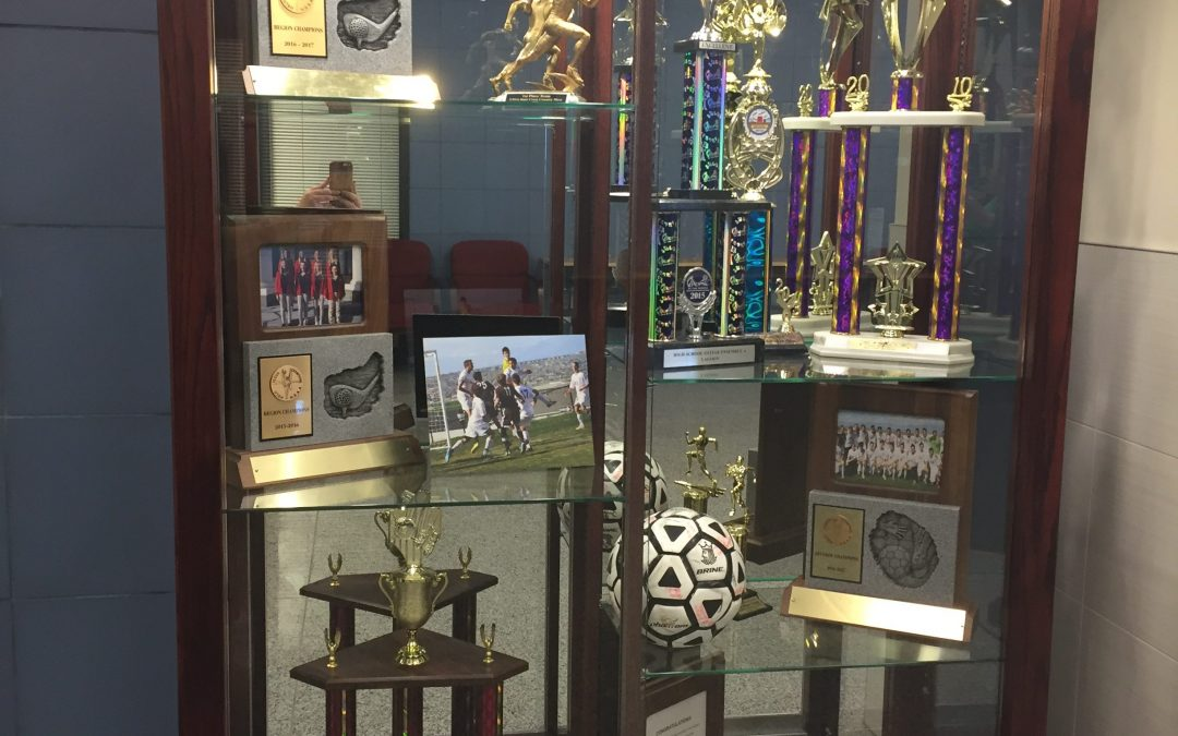 Providence Hall Trophy Display Case