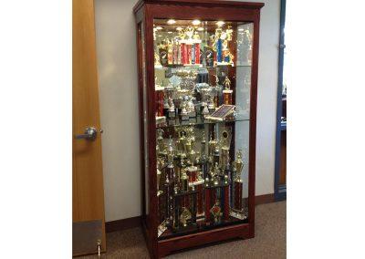 Rosemont School trophy case