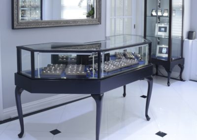 Horizontal Half Octagon Display Cases