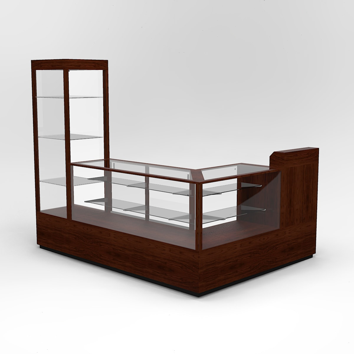 Full Vision Contemporary Grouping Cash Wrap Display Case To Purchase