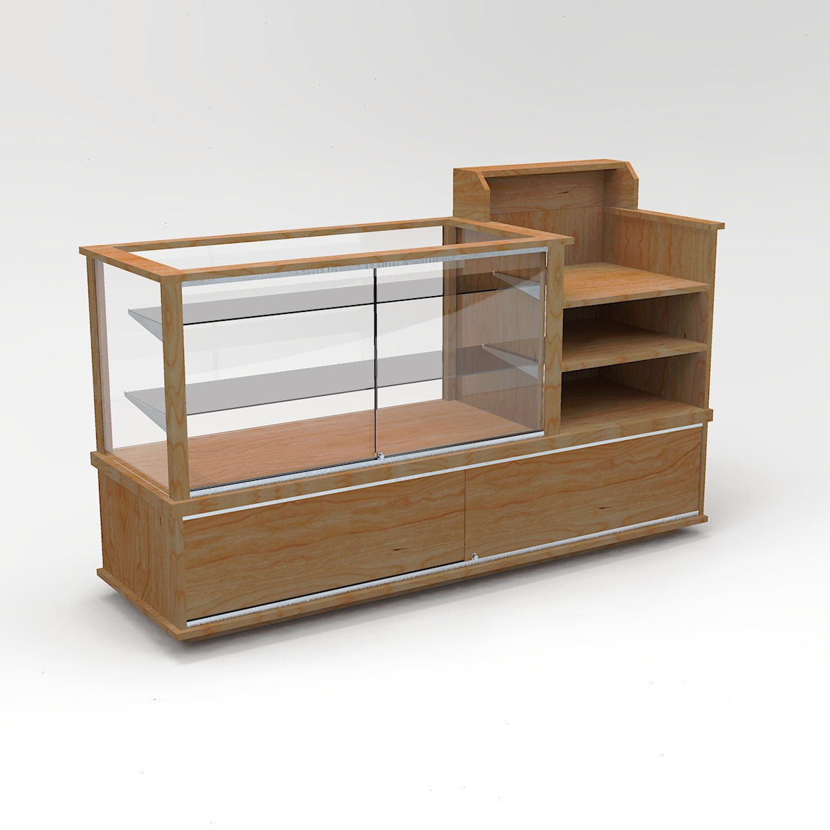 72 Inch Full Vision Classic Cash Wrap Display Case To Purchase