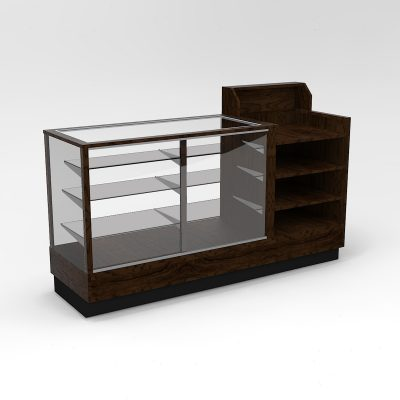 72 Inch Full Vision Contemporary Cash Wrap Display Case To Purchase