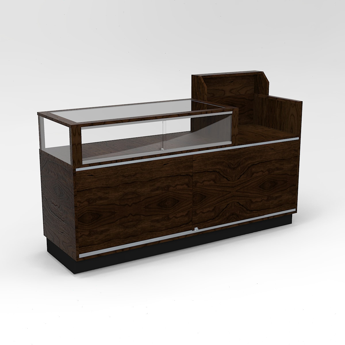 72 Inch Jewelry Vision Contemporary Cash Wrap Display Case To Purchase