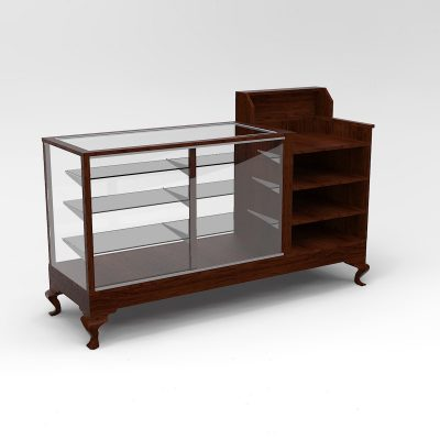 Extra Vision Queen Anne Leg Cash Wrap Display Case To Purchase