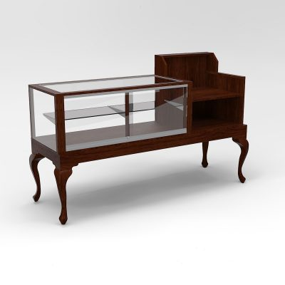 72 Inch Half Vision Queen Anne Leg Cash Wrap Display Case To Purchase