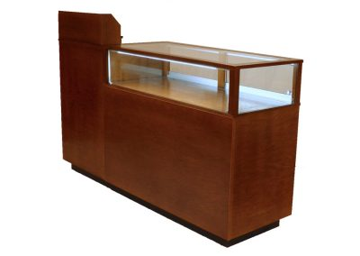 Jewelry Vision Contemporary Rectangle Combo Cash Wrap Display Case