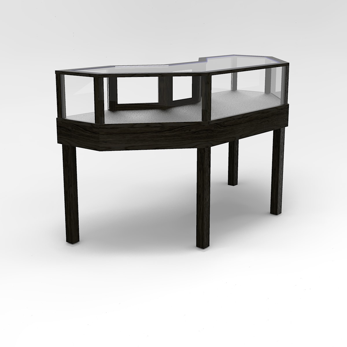 Jewelry Vision Straight Leg Half Octagon Horizontal Display Case For Jewelry Store to Purchase