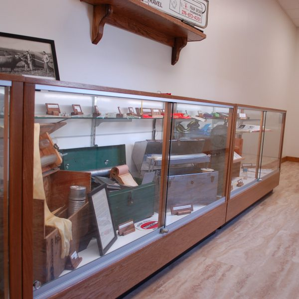 Extra Vision Classic Rectangle Horizontal Display Case Made For A Dairy Office For Artifacts