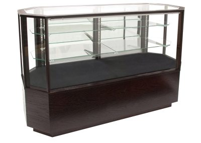 Full Vision Contemporary Horizontal Octagon Display Case