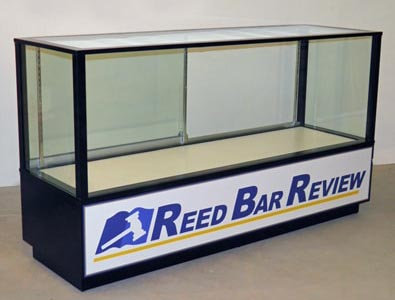 Full Vision Contemporary Rectangle Horizontal Display Case With Storage