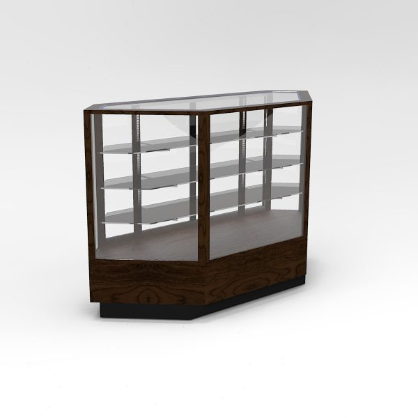60 Inch Extra Vision Contemporary Inside Corner Horizontal Display Case To Purchase