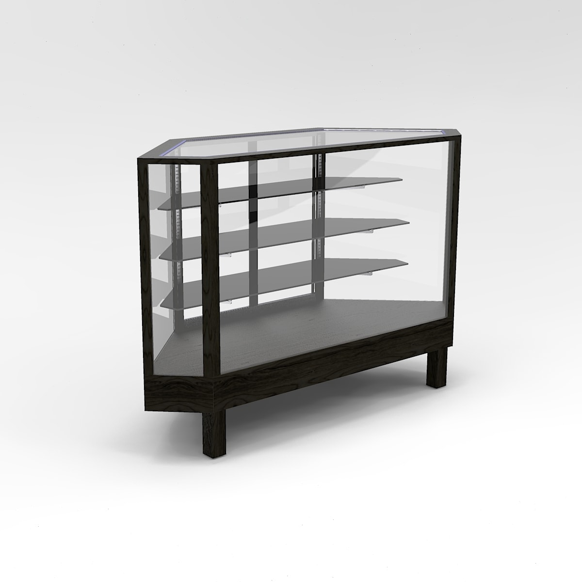 60 Inch Extra Vision Straight Leg Outside Corner Horizontal Display Case to Purchase