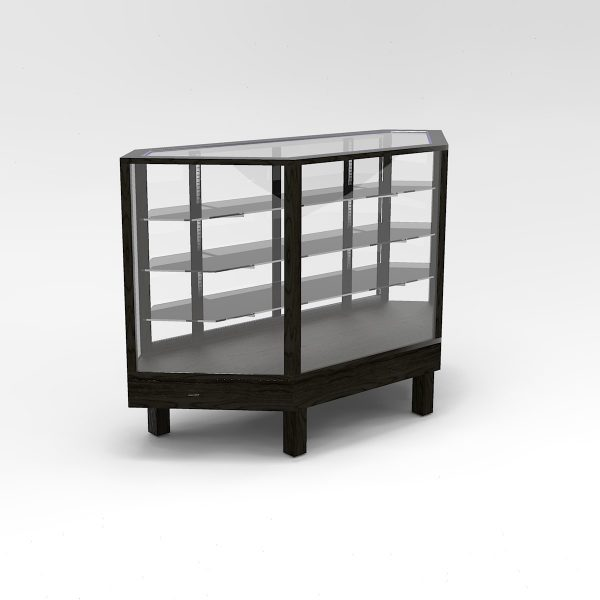 60 Inch Extra Vision Straight Leg Inside Corner Horizontal Display Case to Purchase