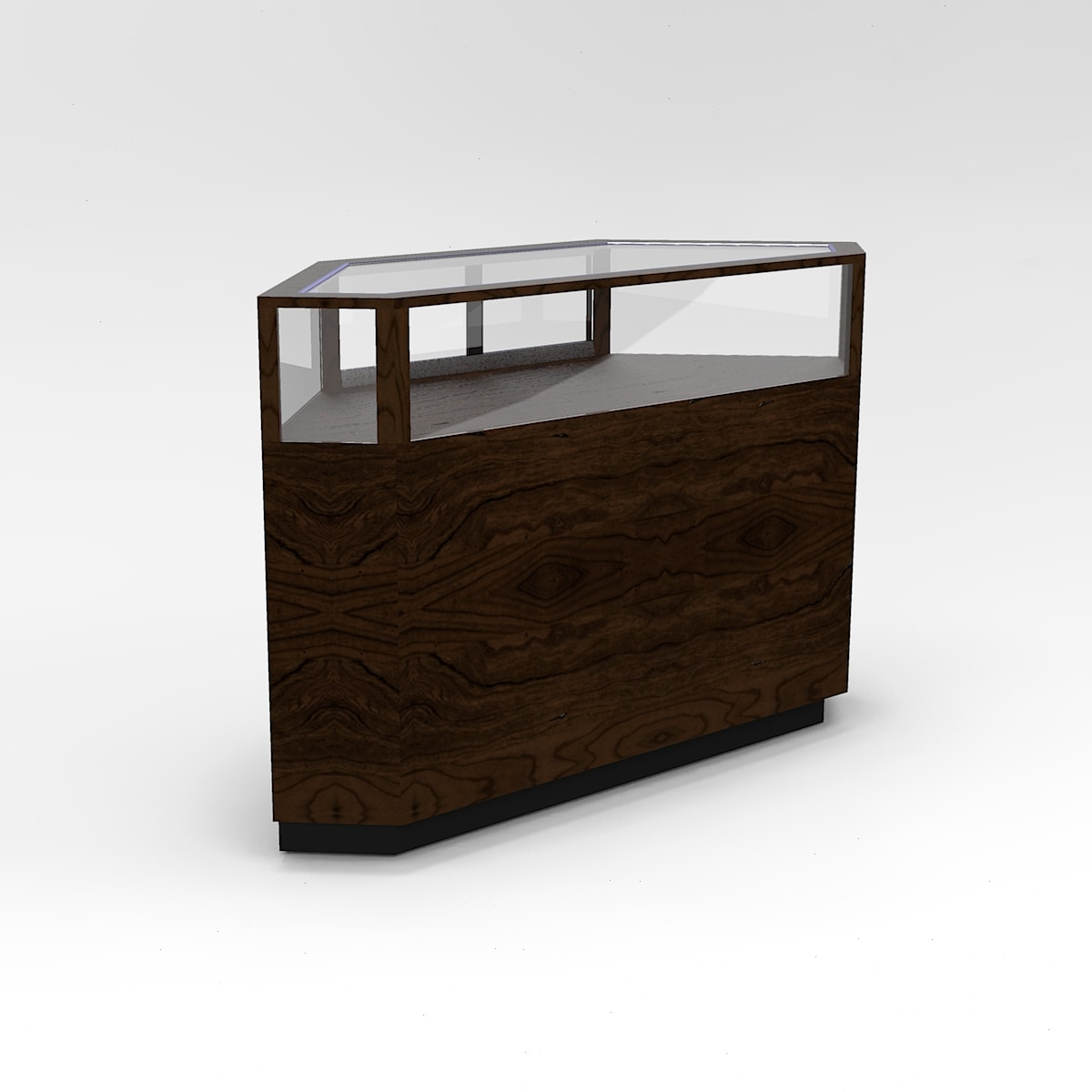 60 Inch Jewelry Vision Contemporary Outside Corner Horizontal Display Case To Purchase