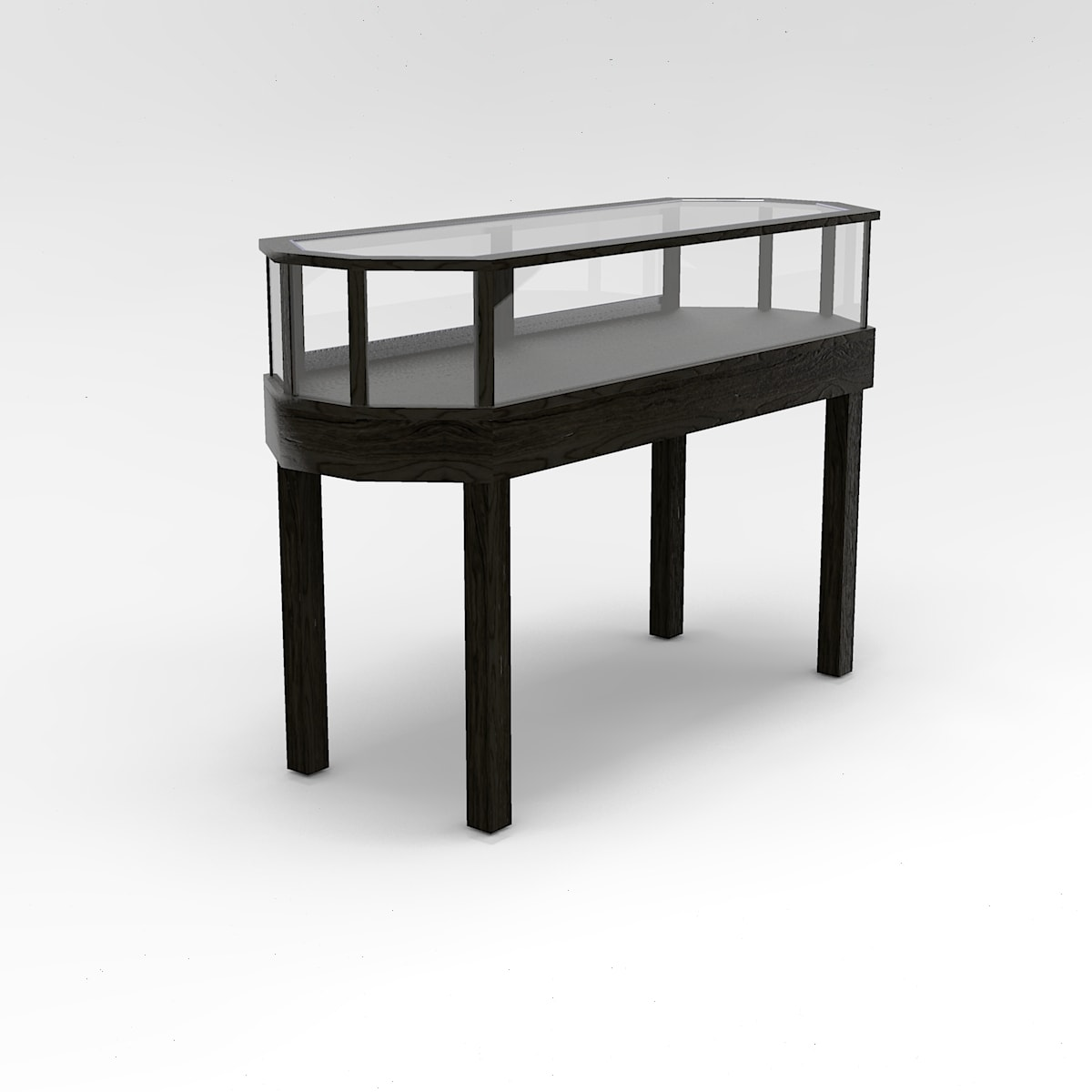 60 Inch Jewelry Vision Straight Leg Octagon Horizontal Display Case to Purchase
