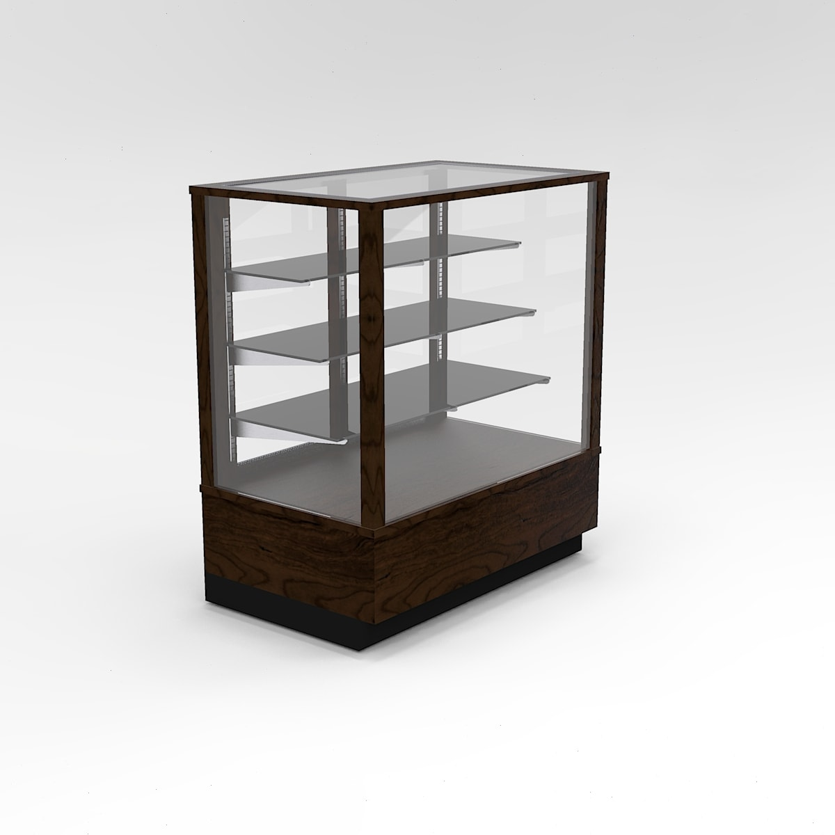 36 Inch Extra Vision Contemporary Rectangle Horizontal Display Case To Purchase
