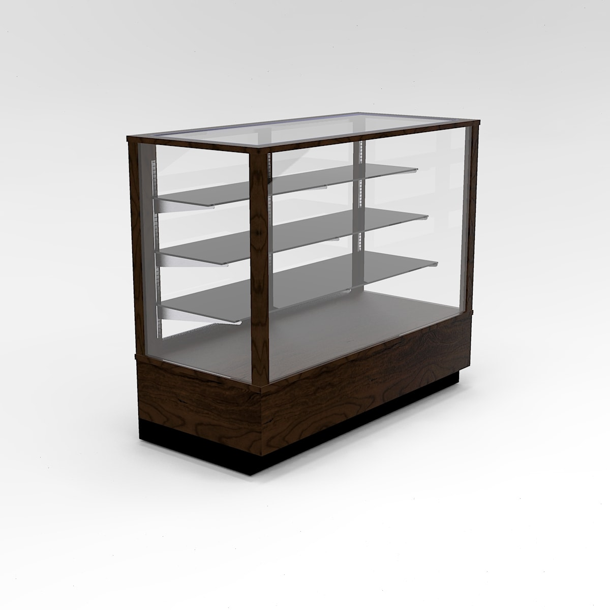 48 Inch Extra Vision Contemporary Rectangle Horizontal Display Case To Purchase