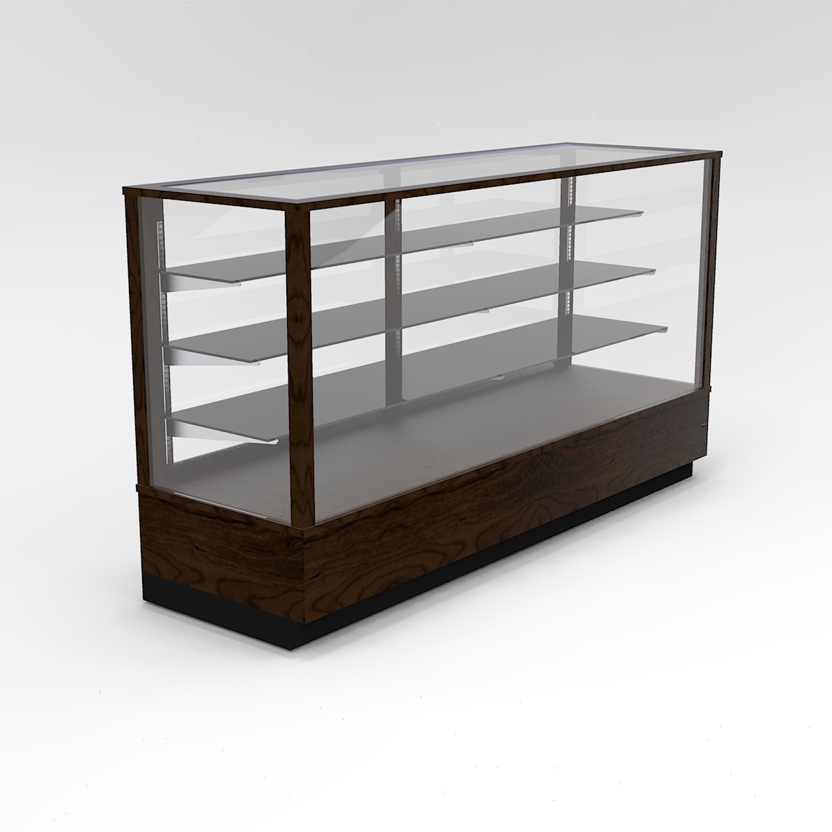 72 Inch Extra Vision Contemporary Rectangle Horizontal Display Case To Purchase