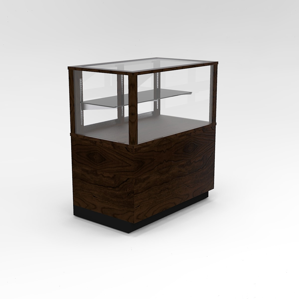 36 Inch Half Vision Contemporary Rectangle Horizontal Display Case To Purchase
