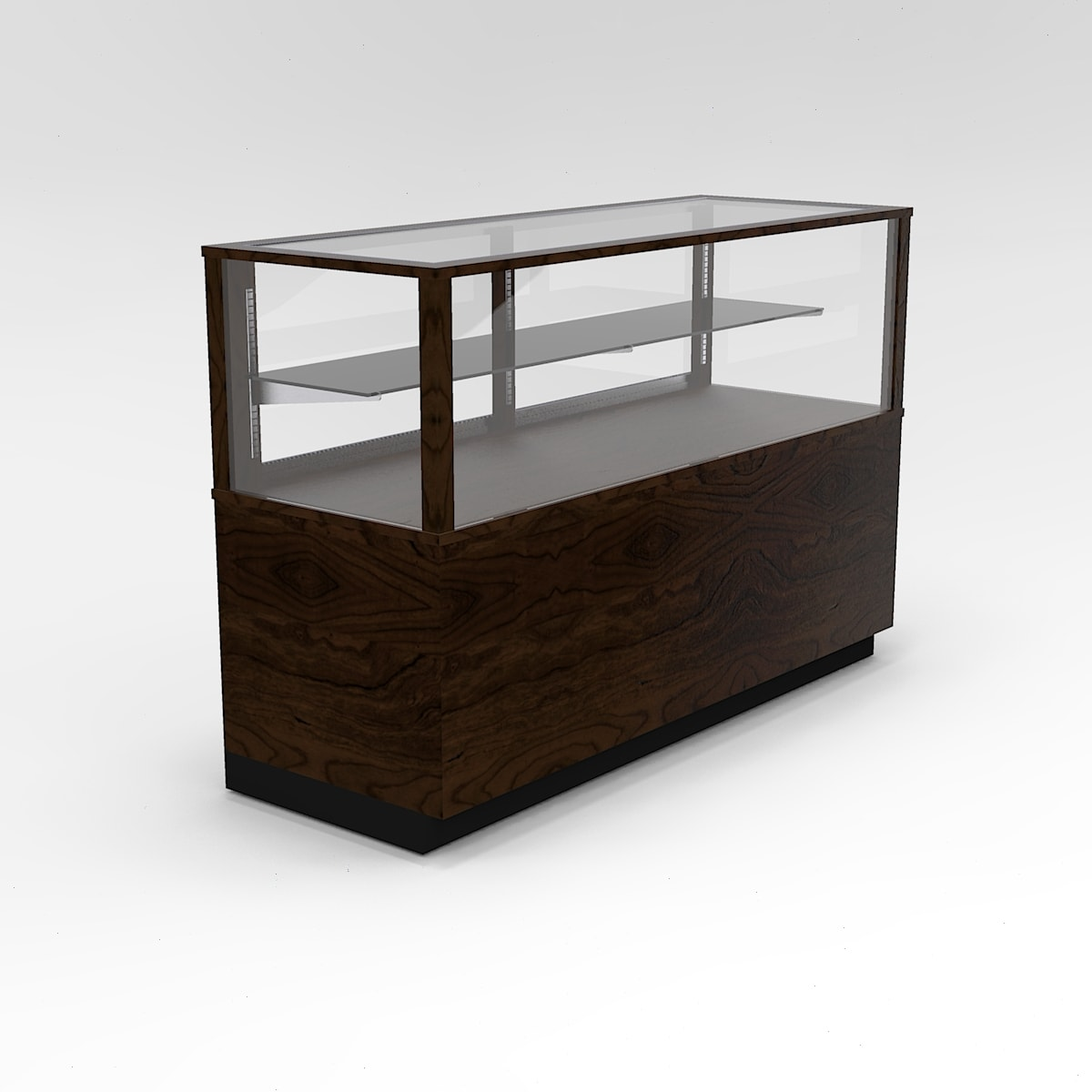 60 Inch Half Vision Contemporary Rectangle Horizontal Display Case To Purchase