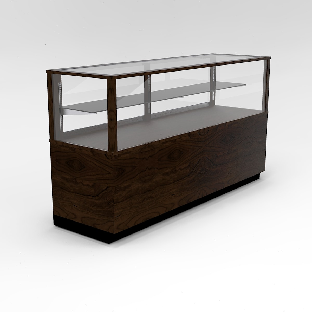72 Inch Half Vision Contemporary Rectangle Horizontal Display Case To Purchase