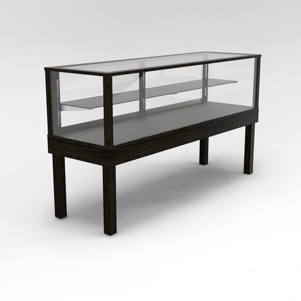 72 Inch Half Vision Straight Leg Rectangle Horizontal Display Case To Purchase