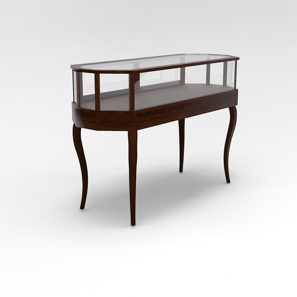 60 Inch Jewelry Vision Country French Leg Octagon Horizontal Display Case to Purchase