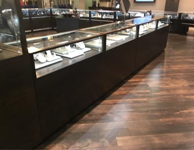 An Example Of Jewelry Vision Contemporary Rectangle Display Case In A Jewelry Store