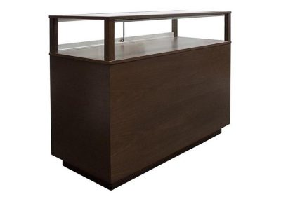 Jewelry Vision Contemporary Rectangle Horizontal Display Case With Storage In Base Back