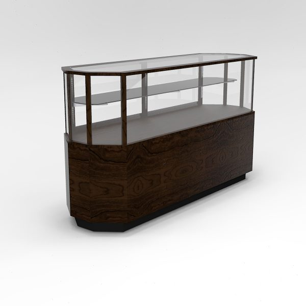 72 Inch Half Vision Classic Octagon Horizontal Display Case To Purchase