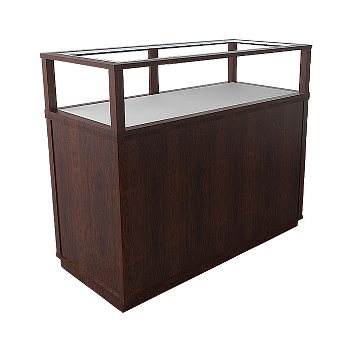 Jewelry Vision Classic Rectangle Horizontal Display Case in Ebony Stain Made By Display Smart