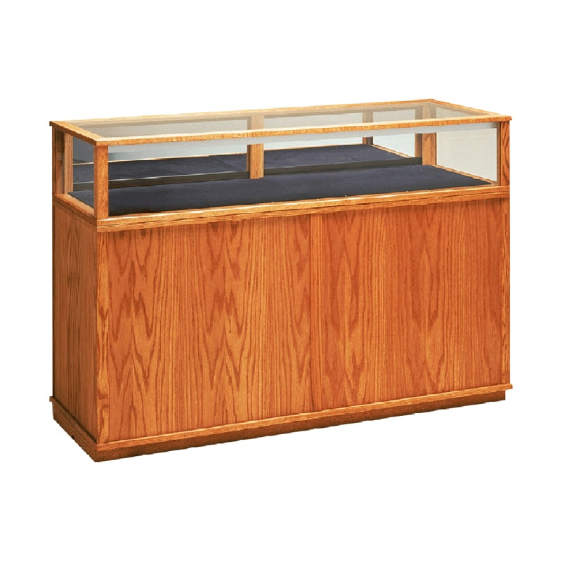 Red Oak Jewelry Vision Classic Rectangle Horizontal Display Case