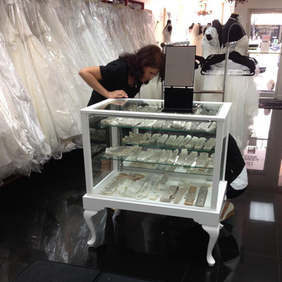 Bridal Store Display Case Made By Display Smart