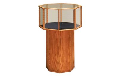 Half Vision Classic Octagon Pedestal Display Case