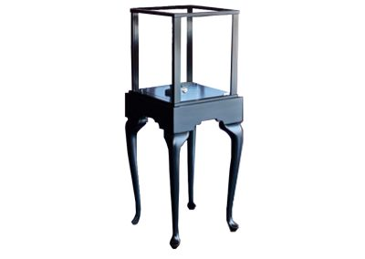 Half Vision Queen Anne Square Pedestal Display Case